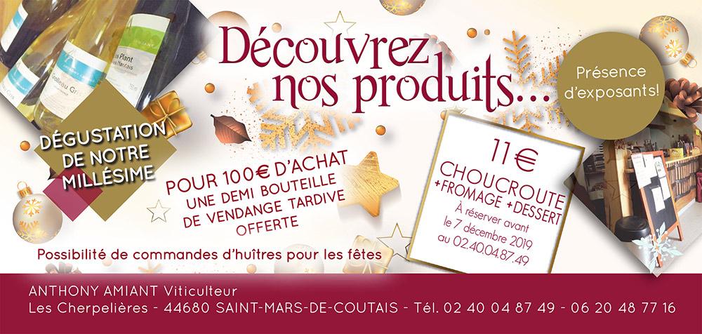 Vins Nantes Portes Ouvertes décembre 2019 - Domaine Anthony Amiant
