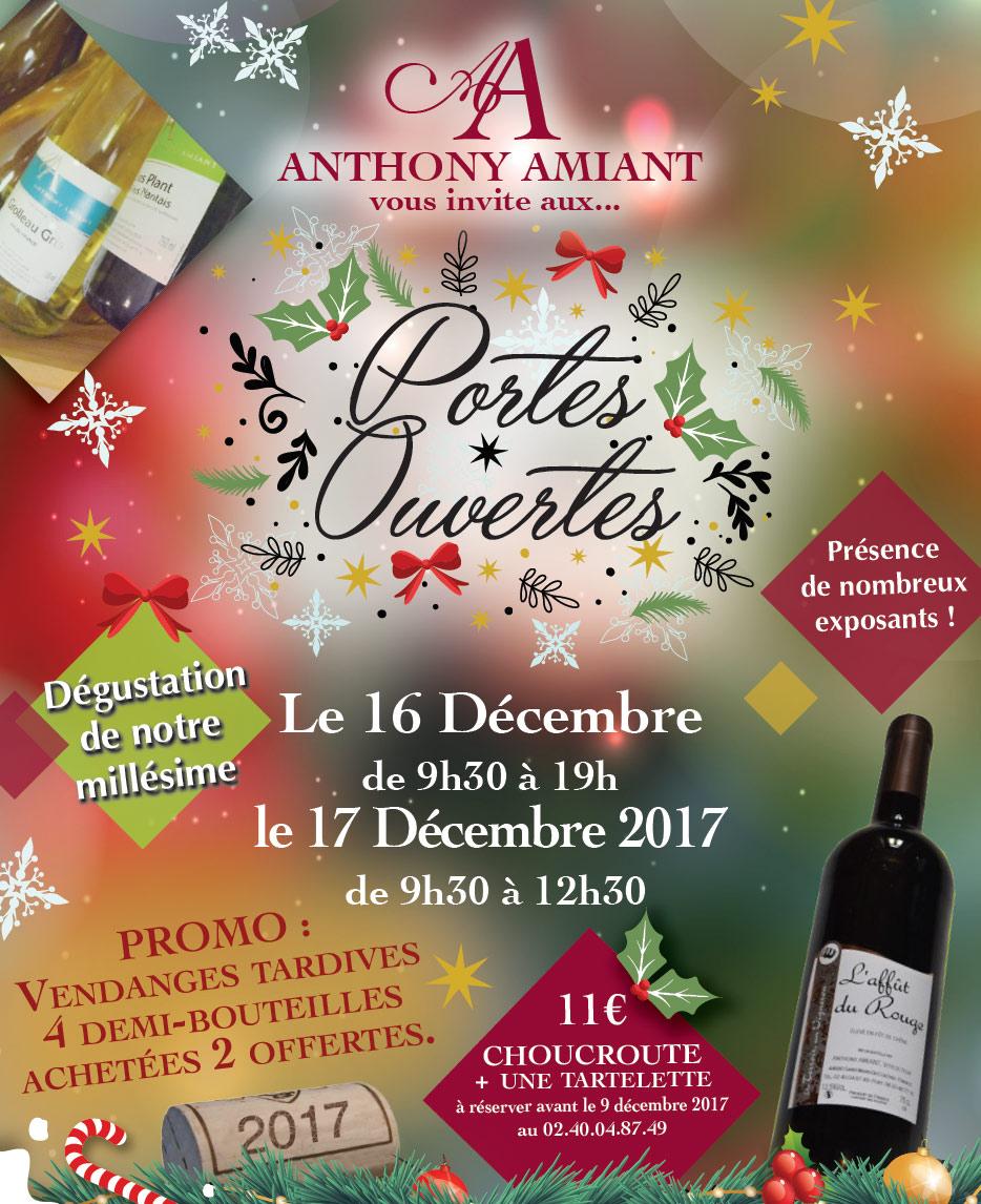 Portes Ouvertes Anthony AMIANT 16 et 17 décembre 2017